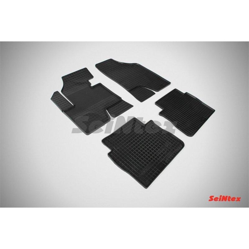 Резиновые коврики сетка Hyundai Santa Fe II