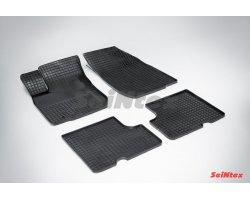 Резиновые коврики сетка Renault Logan