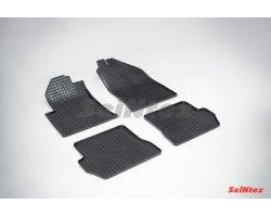 Резиновые коврики сетка Ford Fusion