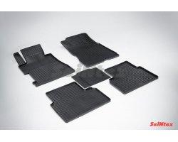 Резиновые коврики сетка Honda Civic VIII Sedan