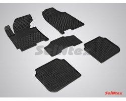 Резиновые коврики сетка Hyundai Elantra 2011